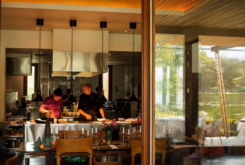 Swiss chef Felix Eppisser works with local talent